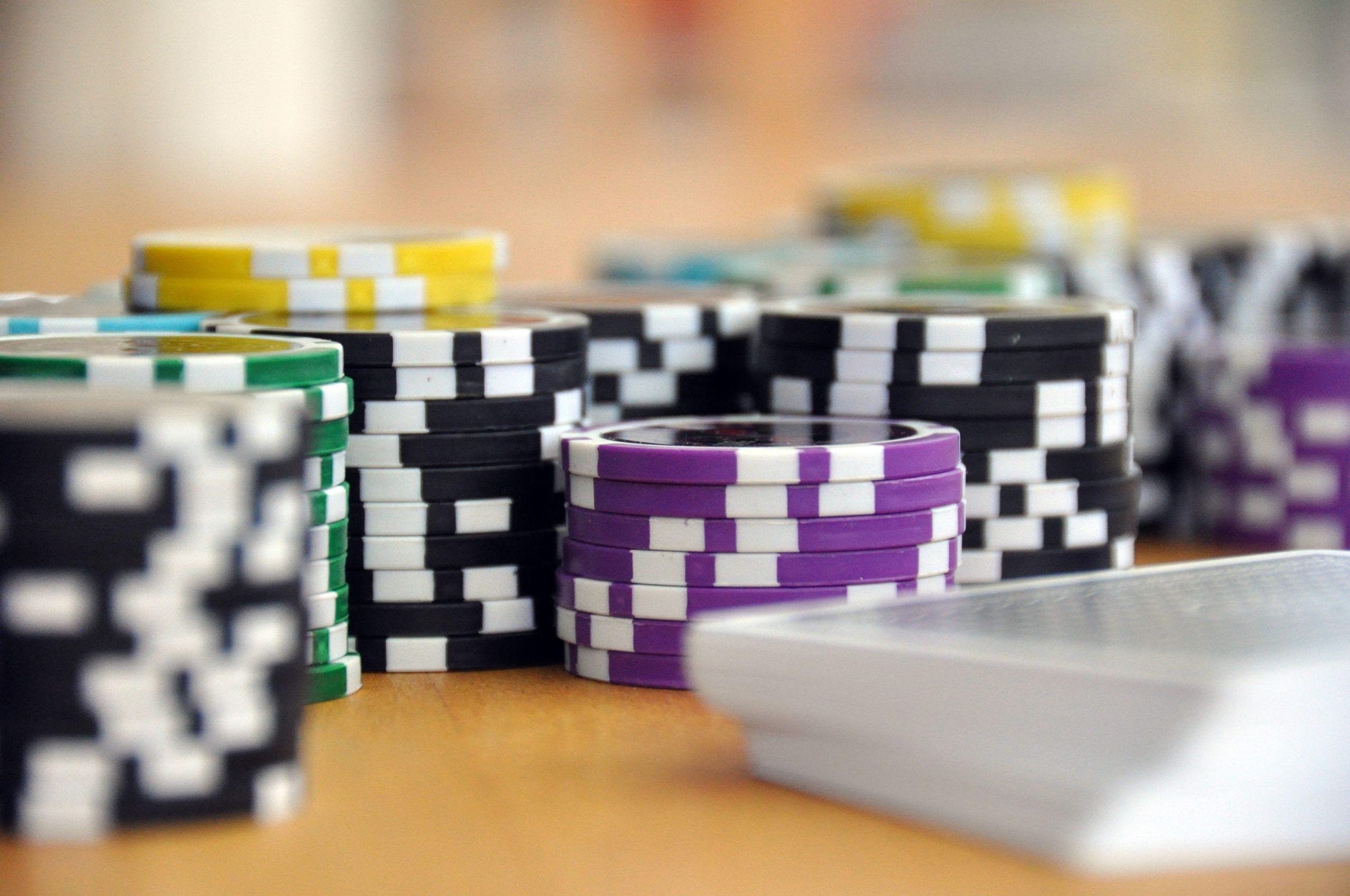 Juegos de poker. Fichas