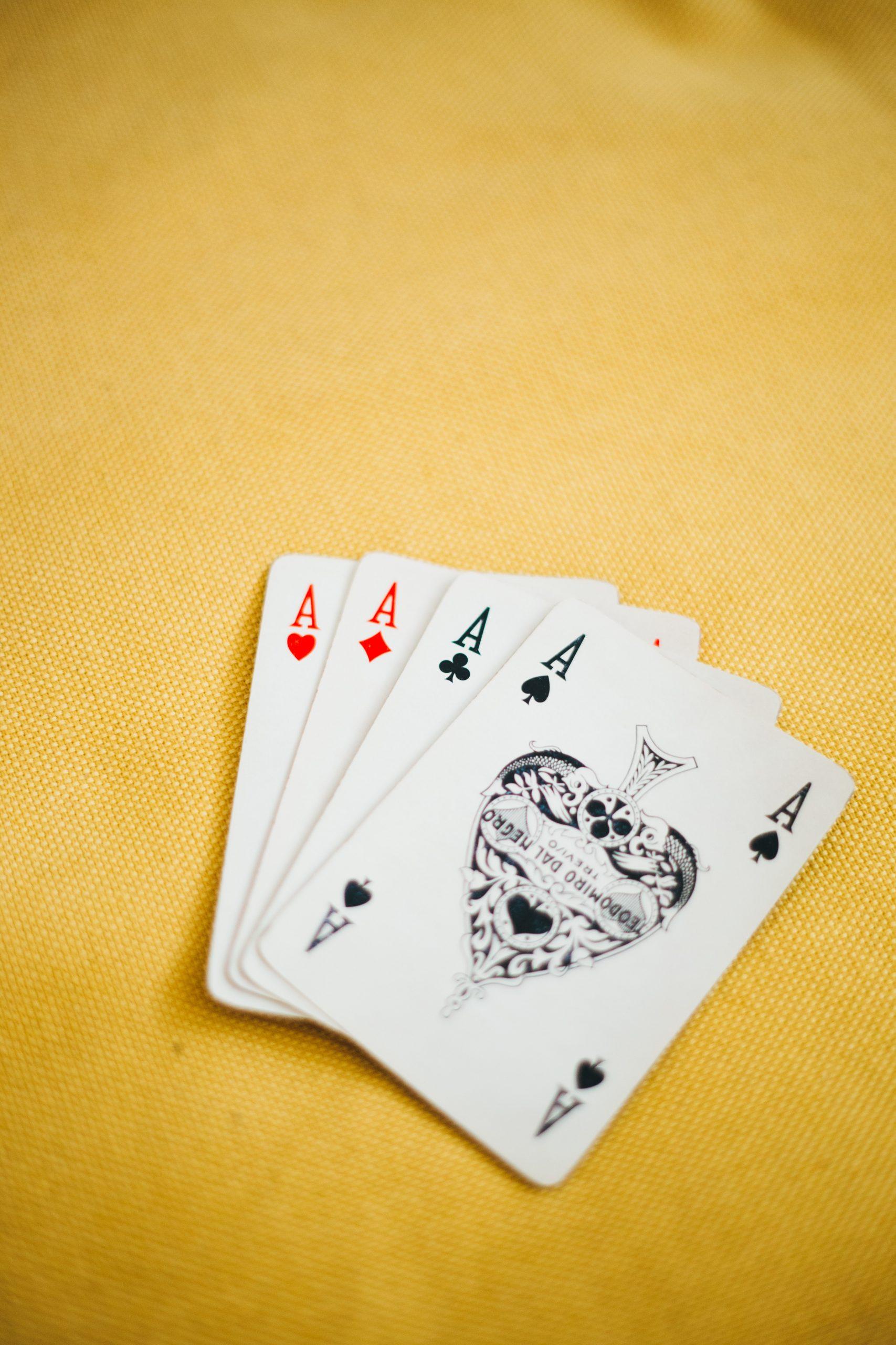 Probabilidades en el poker. poker de ases